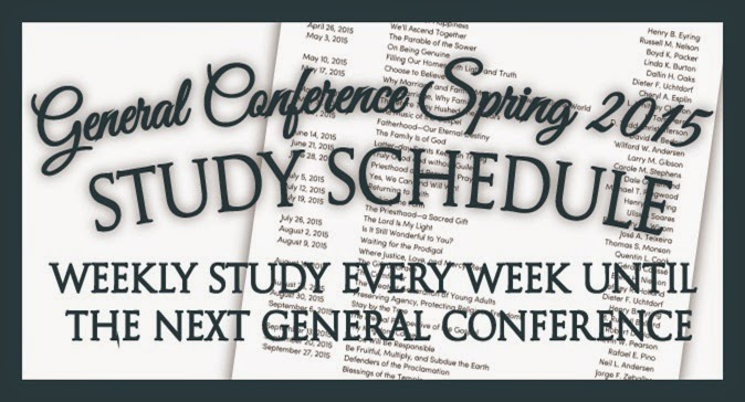 General Conference Spring 2015 Study Schedule