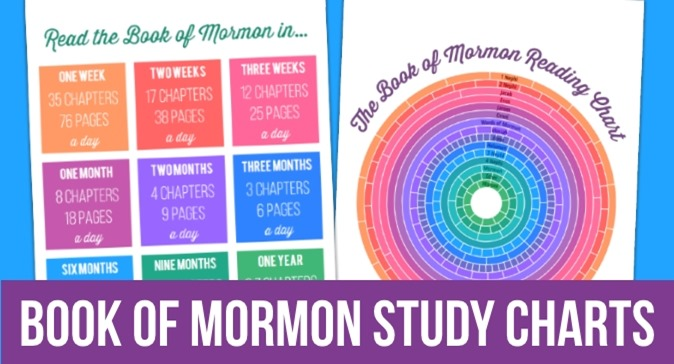 Book of Mormon Reading Chart & Goal Setting Chart