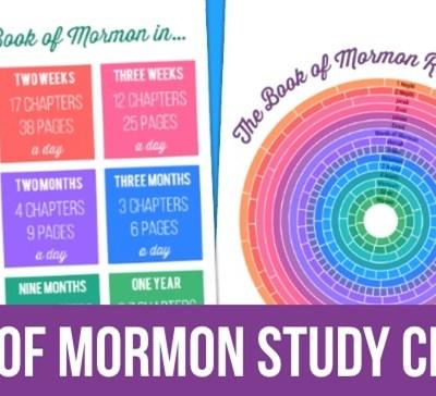 Book of Mormon Reading Chart & Goal Setting Chart