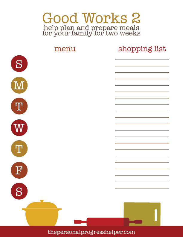 meal planning sheet