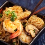 Low-Carb Shrimp and Angel Hair Pasta (Asian Style)