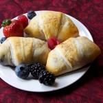 Mixed Berry Stuffed Crescent Rolls