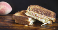 Peach, Port Salut, and Pepperjack Grilled Cheese Sandwich