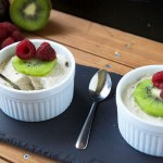 Raw Coconut Passionfruit Pudding