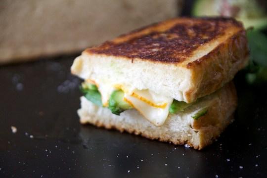 Wasabi Muenster Grilled Cheese Sandwich