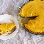 Pumpkin Chiffon Pie with a Triple Gingersnap Crust