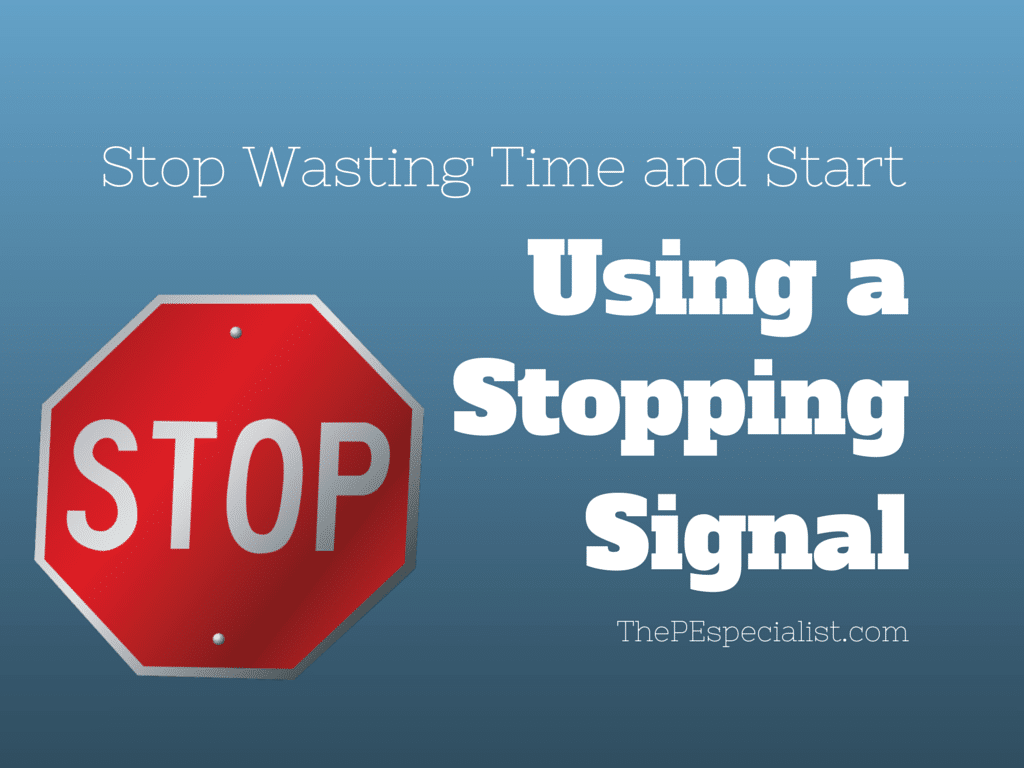 Stopping Signal Graphic