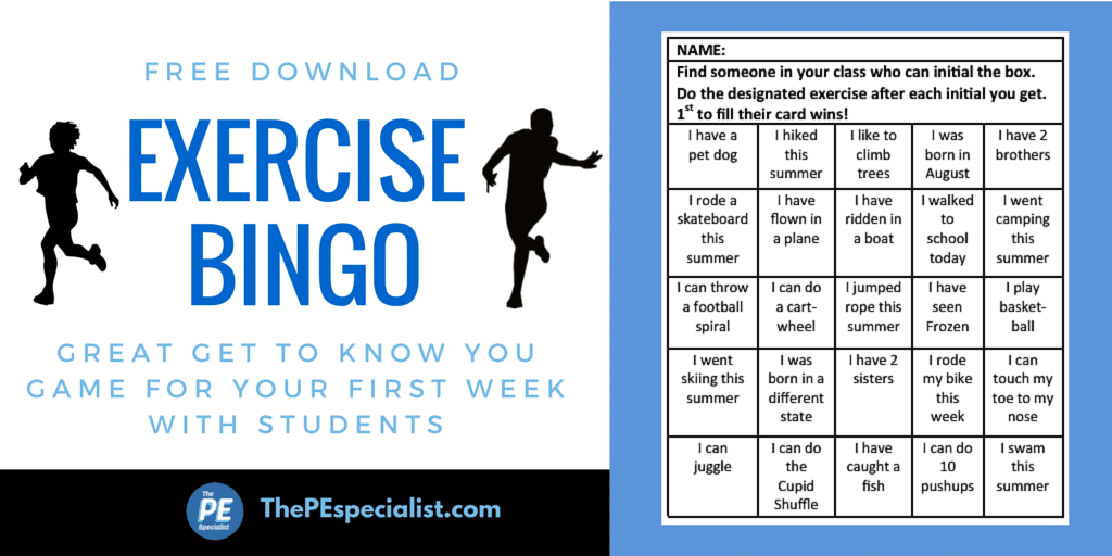 Exercise Bingo - Twitter