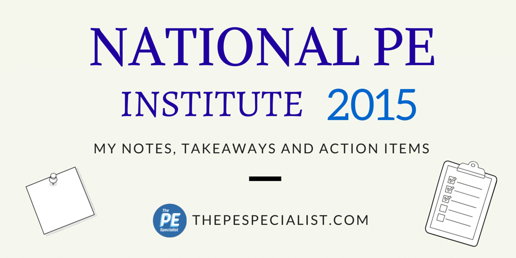 The National PE Institute 2015