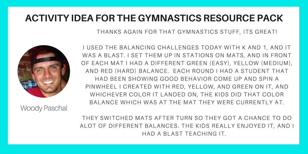 Gymnastics Pack Activity Idea - Woody