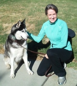 Michelle with Husky