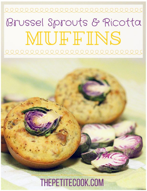 Brussels Sprouts and Ricotta Muffins - vegetarian, gluten free recipe by The Petite Cook