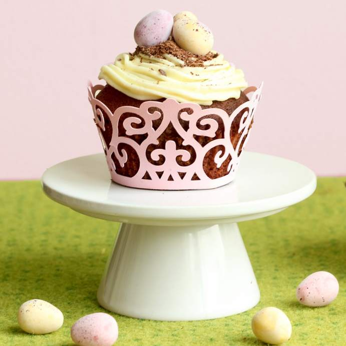 Easter Double Chocolate Cupcakes with Vanilla Buttercream - recipe by the petite cook