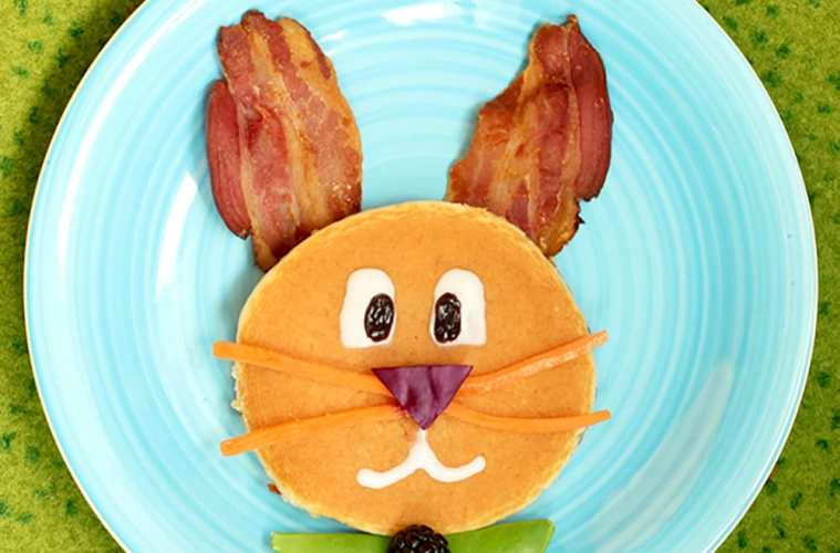 Easter Bunny Pancake Breakfast - Recipe by The Petite Cook