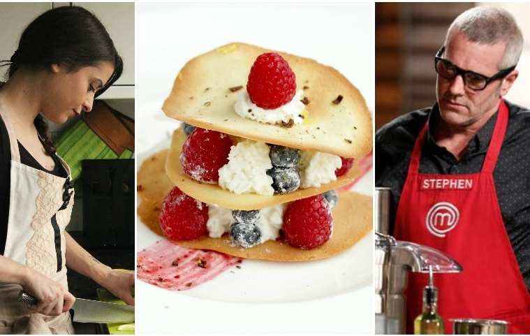 Cooking with Stephen Lee, Masterchef 6 US edition: Tuiles, Berries and Mascarpone - How to make a michelin-star-worthy dessert in less 30 minutes.