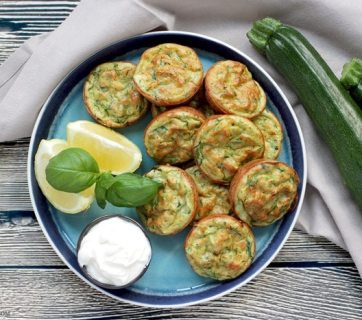 Baked Zucchini Fritters - Healthy, vegetarian, gluten-free and dairy-free - They're so tasty and versatile, you can serve them for breakfast, lunch AND dinner! Recipe from thepetitecook.com