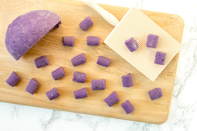 Simple but exceptionally satisfying- Making Italian Potato Gnocchi from scratch only requires 3 simple ingredients! Recipe by The Petite Cook