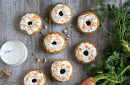 These Carrot Cake Baked Donuts are the perfect easy-to-make Easter treat that everyone will love - These veggie-packed donuts are totally guilt-free, naturally dairy-free and low fat! Recipe by The Petite Cook