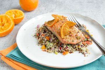 Orange Honey Pan-seared Salmon