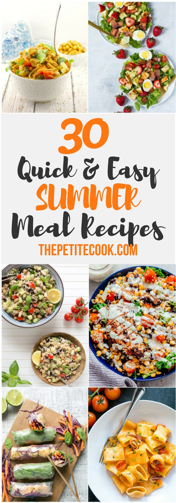 round up of 30 summer meal recipes