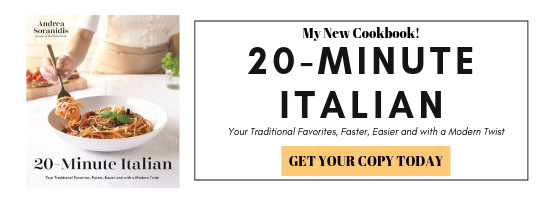 banner showcasing 20-minute italian cookbook