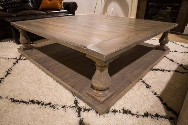 diy restoration hardware balustrade coffee table