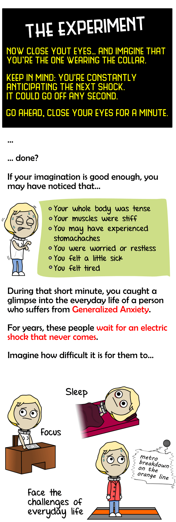 The anxiety thought experiment test