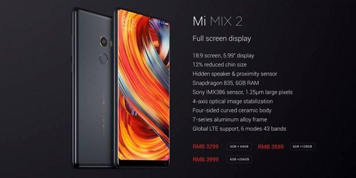 Xiaomi Mi MIX 2 hihglights
