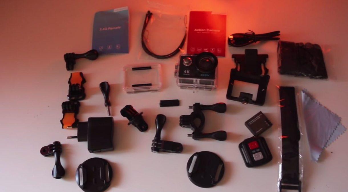 eken h9r 4k action camera - accessories