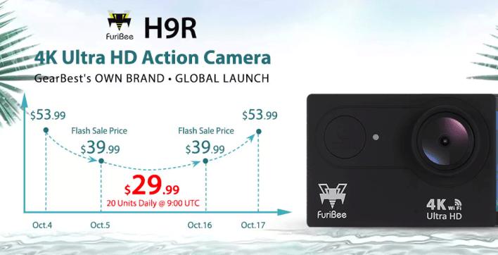 Furibee H9R 4K Action Camera - deal