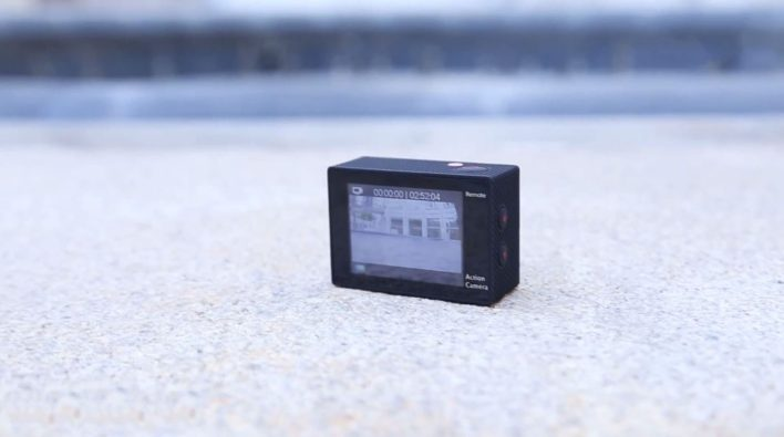 Furibee H9R 4K Action Camera - side button