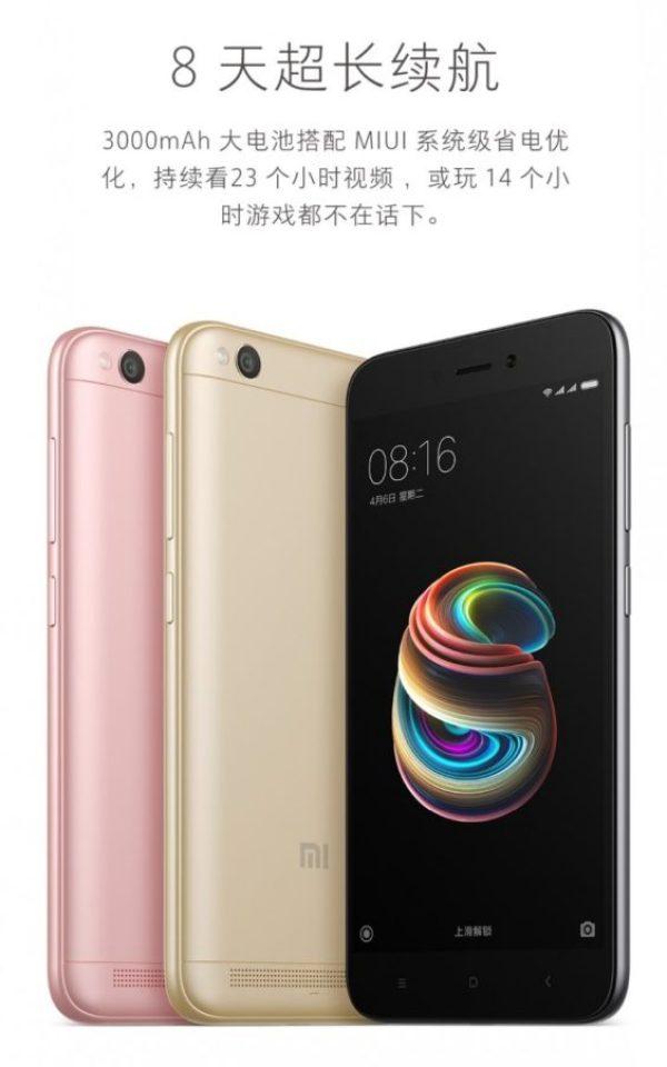 Xiaomi Redmi 5A release 1