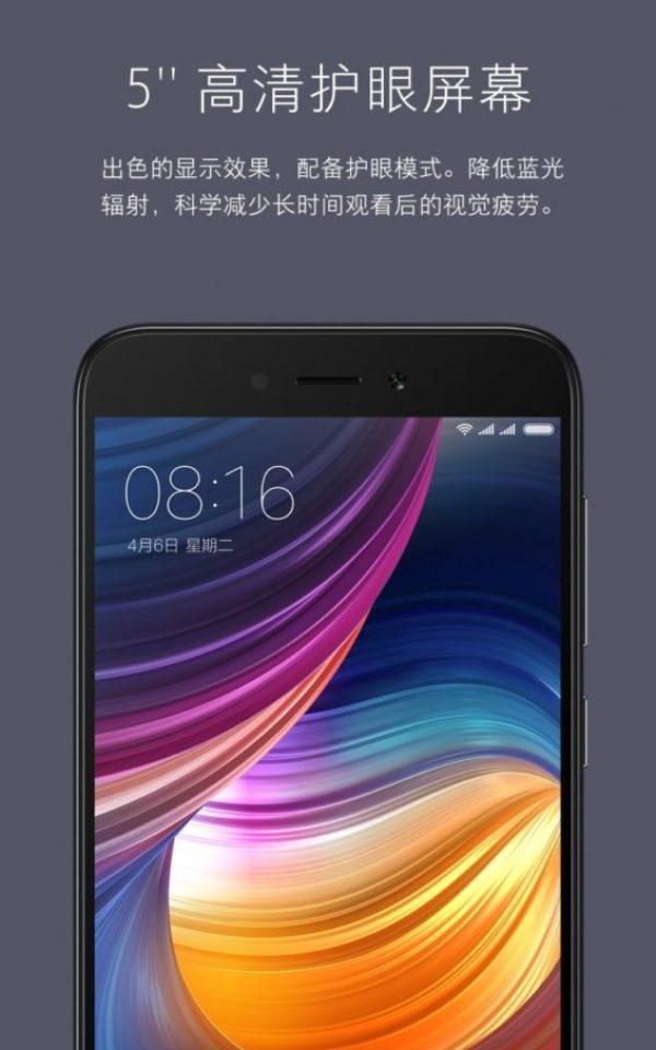 Xiaomi Redmi 5A release 5
