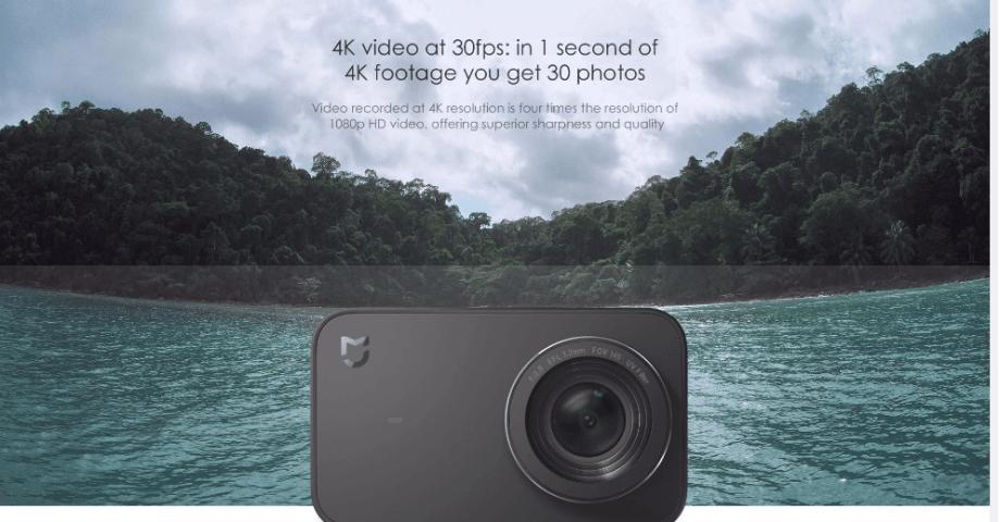 Xiaomi Mijia 4K mini Action Camera