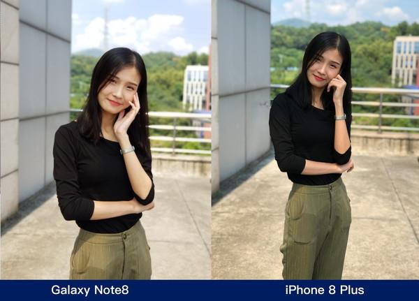 iPhone 8 Plus Vs Samsung Galaxy Note 8 Camera Comparison - Portrait Mode