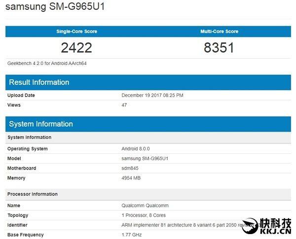Snapdragon 845 Geekbench Benchmark Leaked Samsung
