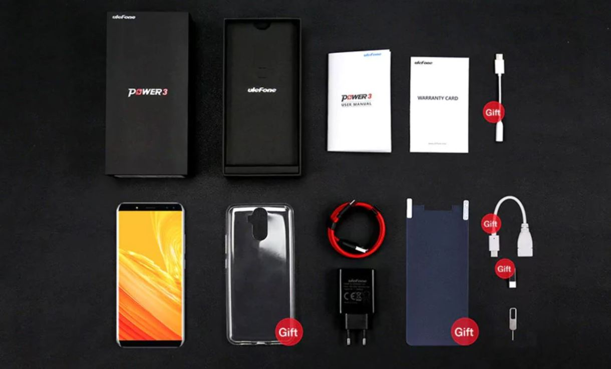 Ulefone Power 3 Preview - accessories