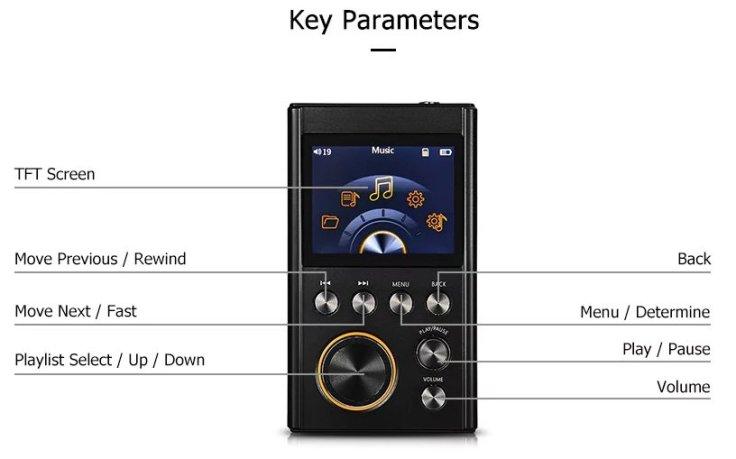 Crazier R3 HiFi MP3 Music Player design