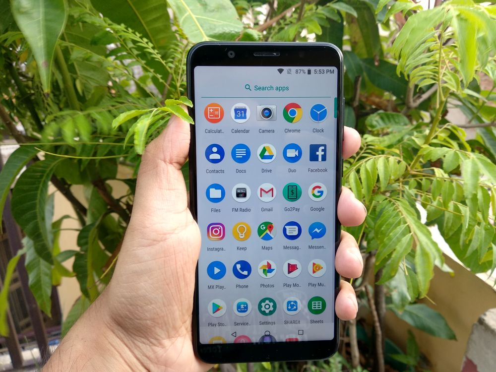 ASUS Zenfone Max Pro M1 Review - App menu