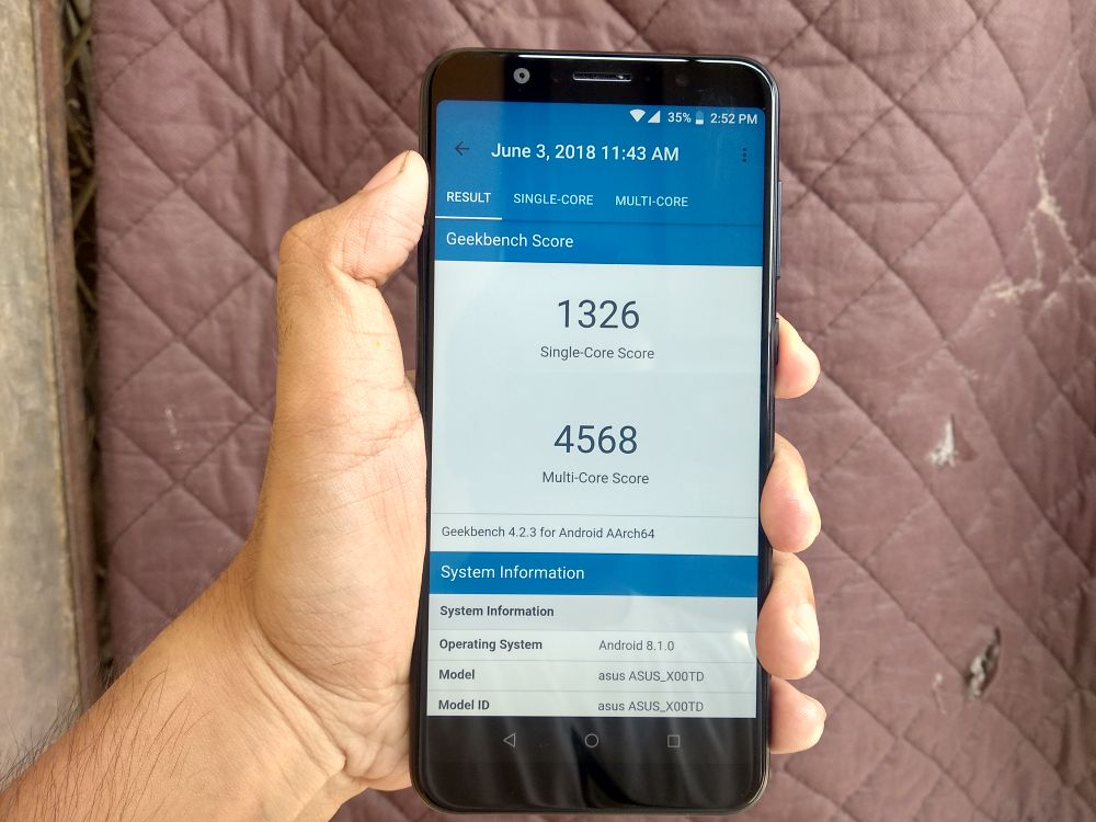 ASUS Zenfone Max Pro M1 Review - Geekbench