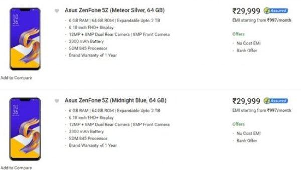 Asus Zenfone 5Z releasing India