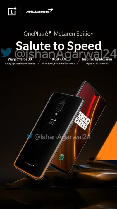 OnePlus 6T McLaren Edition Poster