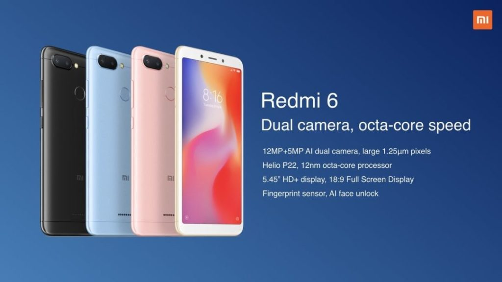 Redmi 7 vs Redmi 6 vs Redmi Go - Redmi 6 Features