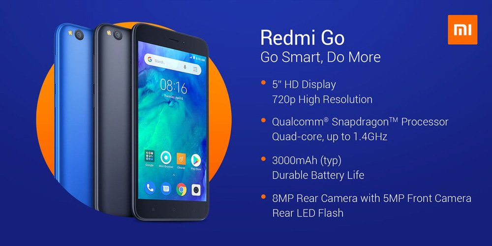 Redmi 7 vs Redmi 6 vs Redmi Go - Redmi Go Features