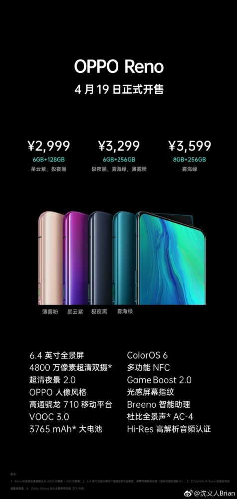 OPPO Reno Preview Pricing