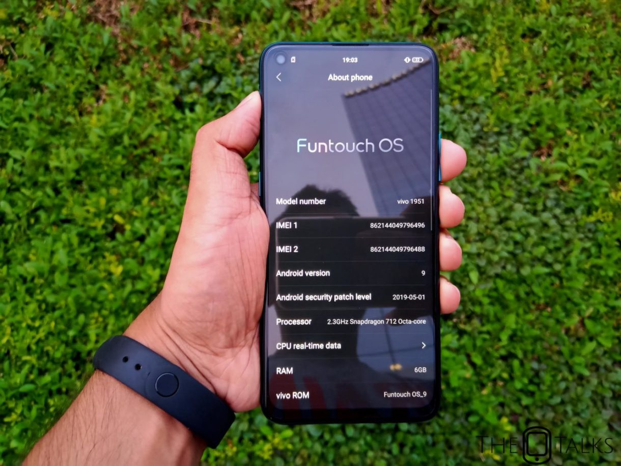 Functouch OS 9 Android Pie Vivo Z1 Pro