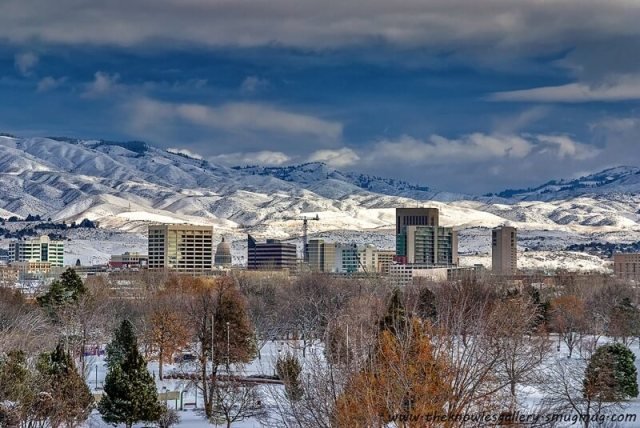 Charles Knowles - City of Boise Idaho Winter