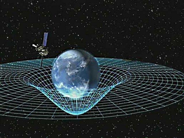 Gravity Probe B circling Earth
