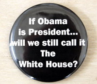 Republican pin on obama