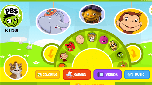 this site has four main categories mainly coloring kids games kids videos and music for kids which you can choose for your kids - Pbs Kids Coloring Games